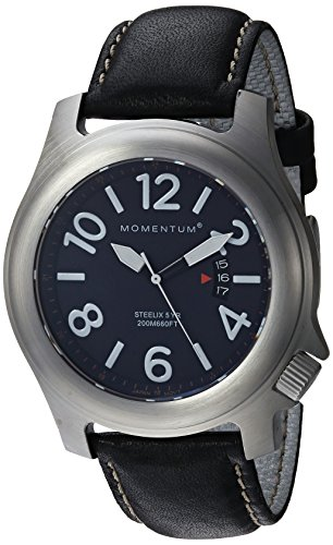 Men's Sports Watch |Steelix Nylon Adventure Watch by Momentum | Stainless Steel Watches for Men | Analog Watch with Japanese Movement | Water Resistant(200M/660FT) Classic Watch - Blue / 1M-SP74U2B