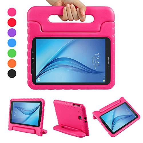 LEADSTAR Samsung Galaxy Tab E 9.6 EVA Etui Poignée Stand Étui Enfants Housse Antichoc Protecteur Kids Coque Anti-Chocs pour Samsung Galaxy Tab E 9.6-Pouces SM-T560 / T561 (Rose)