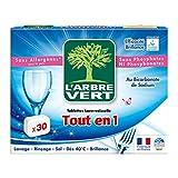 L'Arbre Vert - Tablettes Lave-Vaisselle tout en 1-30 Doses...
