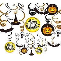 VSTON Halloween Decoration Hanging Swirls Party Set Supplies with Pumpkin Ghost Happy Halloween Swirls 30 Packs