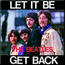 The Beatles Let It Be Get Back new Official 76mm x 76mm Fridge Magnet