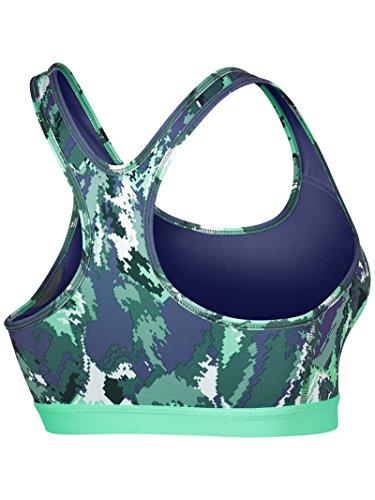 Nike Pro CLSC Pad Oil glch Bra–Brassière de sport pour femme morado  (dk purple dust / dk purple dust / blanco)