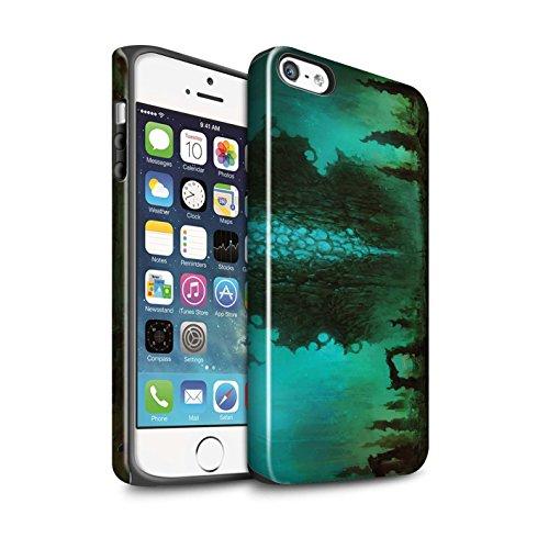 Offiziell Chris Cold Hülle / Glanz Harten Stoßfest Case für Apple iPhone SE / Pack 12pcs Muster / Fremden Welt Kosmos Kollektion Alien Landschaft