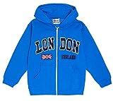 De Inglaterra para niños con cremallera Sudadera con capucha diseño de Londres - Embroidred de alta calidad