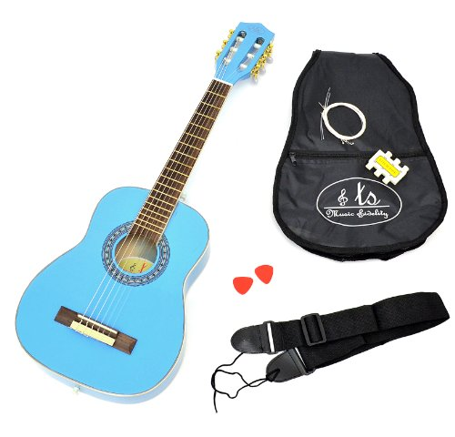 ts ideen 5285 guitare acoustique classique 1 4 pour enfant. Black Bedroom Furniture Sets. Home Design Ideas