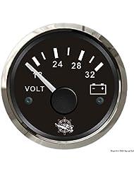 Voltmètre 18/32 V noir/polie