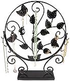 Schmuckständer im Baum Design - Schwarz 40 x 33 x 7 cm - Ohrring Schmuckhalter Aufbewahrung Präsentation - Grinscard