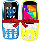 I KALL K3310 (Light Blue) And K35(Yellow) Combo Of Dual Sim Mobile With 101 Days Replacement Warranty With 1 Year Manufacturer Warranty