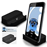 Black Micro USB Sync & Charge / Charging Desktop Dock Stand Charger For Samsung Galaxy J5 SM-J500F
