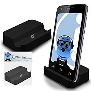 Black Micro USB Sync & Charge / Charging Desktop Dock Stand Charger For Samsung Galaxy Core Advance