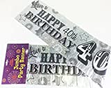 Giant Happy 40th Birthday Party Wall Banner 3 Banners Age 40 Party Decoration