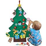 Bageek Albero di Natale in Feltro Decorazione da Parete Giocattolo educativo Fai da Te con Ornamenti