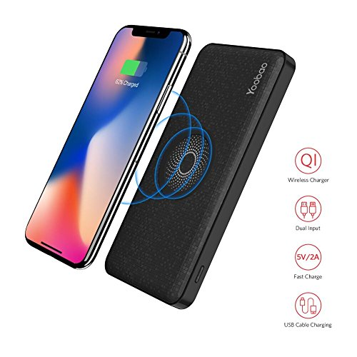 Yoobao W5 Wireless Qi Charger with Portable 5000mAh Power Bank