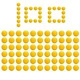 ZITFRI 100Pcs Balles Recharge Compatible pour Nerf Rival, Nerf Munition Bille Balle Bullet pour Artemis Apollo Zeus Blasters Enfants Gamins Jouets, Balle pour Nerf Rival Non Original