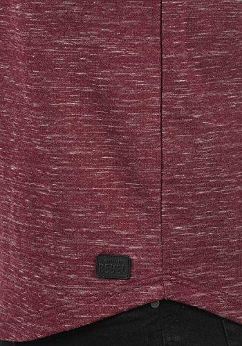 REDEFINED REBEL Marlone Herren Sweatshirt Pullover Sweater mit Rundhals-Ausschnitt aus hochwertiger Baumwollmischung Meliert Bordeaux