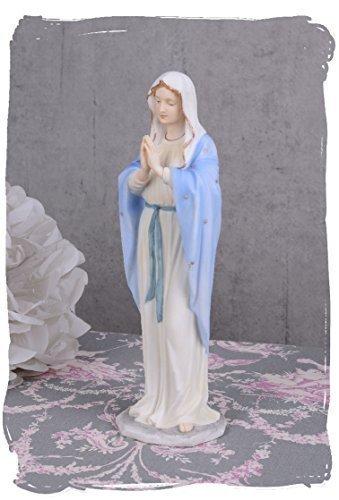 Skulptur, Figur, Büste, Statue, Statuette der Madonna, Maria aus Keramikmasse mit Handbemalung -...