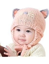 TININNA Mignon Mode Tricot Crochet Hiver Chaud Chapeau Bonnet Chat Cache  Oreille Beanie Capuchon Casquette Calotte 21abb4dfa37