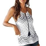 Beikoard - Chemise Vetement Femme Été,Mode Femmes D'été Lâche sans Manches Débardeur T-Shirt Chemisier Débardeur (XL, Blanc-a)