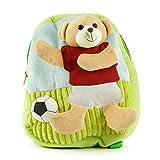 Rucksack Teddybär mit Fußball, waschbare Kindergarten-Tasche, Kinder-Rucksack 3D-Effekt
