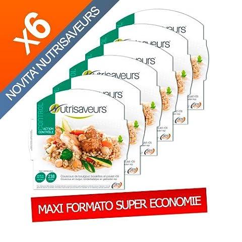 Nutrisaveurs - Couscous de boulgour, boulettes et poulet roti - Control Nutrisaveurs - CARTON ECO X