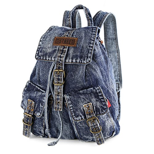 Imagen de nuevo estilo denim  bolso vaquero bolsa de viaje moda para mujer de color azul