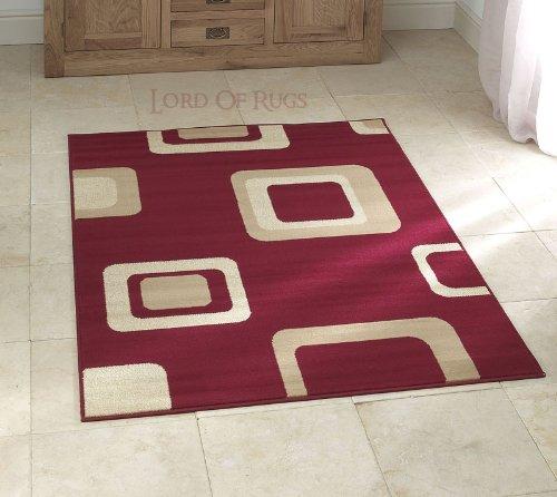 Sehr Modern in rot Teppich Größe: 160 x 220 cm (7.62 cm (5 x 7 '7.62 cm), Teppich (X Rag-rug-5 7)