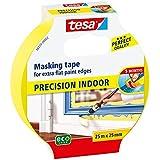 Tesa Precision - Cinta de pintor para interiores, 25 m x 25 mm, color amarillo