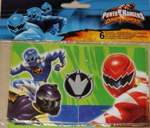(Unbekannt Power Rangers 6Stück EINLADUNGEN)