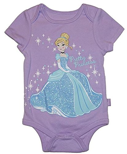 Prinzessin Cinderella Assorted Baby M?dchen Bodysuit Dress Up Outfit (6-9 Monate, lila)