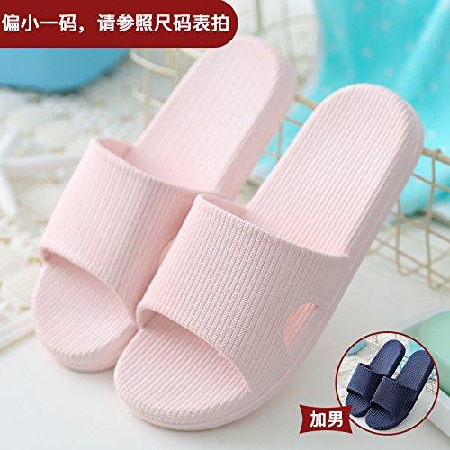 DogHaccd pantofole,Pantofole donna estate fresca estate ciabatte da bagno home giovane in camera cool pantofole La luce rosa + blu1