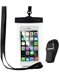 étanche Coque de téléphone, Anskp Transparent universel Underwater Sac étanche avec brassard Sangle de cou pour iPhone 7, 7Plus, 6, 6S, 6s Plus, SE, 5S, d'autres smartphones jusqu'à 15,2cm, claire