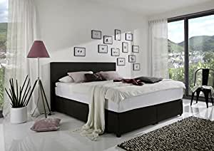 boxspringbett classico 180x200 cm in stoff schwarz 3230. Black Bedroom Furniture Sets. Home Design Ideas