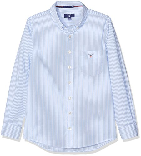 GANT Boy's O the Broadcloth Banker Shirt, Blue (Hamptons Blue), 9-10 Years (Manufacturer Size:134/140)
