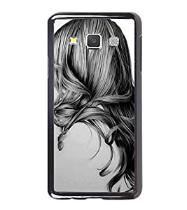 Printvisa Ultra Girl with Gorgeous Hair 2D Hard Polycarbonate Designer Back Case Cover for Sa...