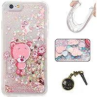 "Laoke Carcasa para iPhone, Funda TPU, flores, Premium, piel sintética, 8, iphone6(4.7"")"