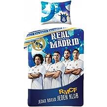 Real Madrid Players–Ropa de cama–140x 200cm–70x 90cm–algodón–azul