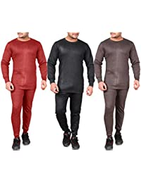 Devil Warmer Thermal Top Pajama|Bottom Mens Warm Winter Suit Combo Set Winter Wear Body Warmes for Mens| Boys (pack of 3)