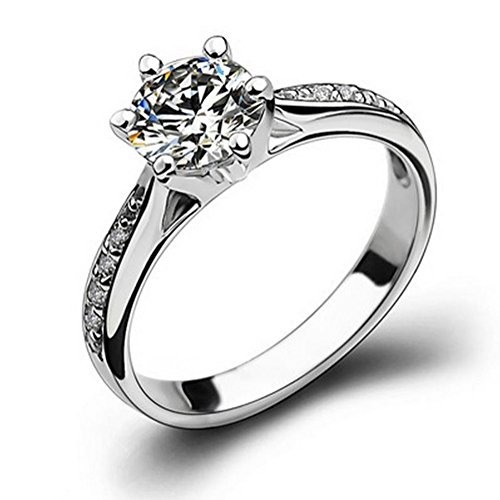 chseckigen Zirkon Ring Schmuck Zubehör Verstellbare Ringe Hochzeit Bankett Festliche Geschenke Souvenir (Herr Der Ringe Party Supplies)