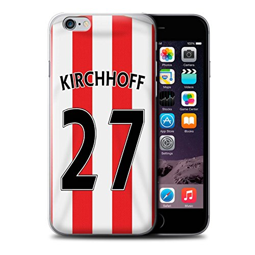 Offiziell Sunderland AFC Hülle / Case für Apple iPhone 6+/Plus 5.5 / Van Aanholt Muster / SAFC Trikot Home 15/16 Kollektion Kirchhoff