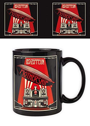 1art1 Set: Led Zeppelin, Mothership Foto-Tasse Kaffeetasse (9x8 cm) Inklusive 1x Überraschungs-Sticker (Led Zeppelin Kaffeetasse)