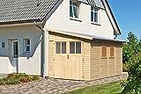 Karibu Gartenhaus BOMLITZ 4 natur Gerätehaus 238x355cm 19mm