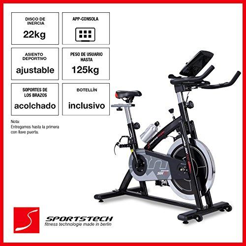 Asequible Bicicleta estatica profesional Sportstech SX200 con control de  aplicaciones compatible con smartphone + Google Street View c1bab595b1480