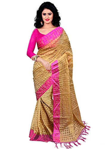 Trendz Cotton Art Silk Saree(TZ_Pink_Art)