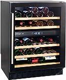 AVINTAGE Cave à vin de service - 2 temp. - 50 bouteilles - Noir ACI-AVI575E - Encastrable
