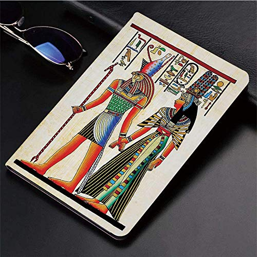 Yaoni Hülle für iPad (9,7 Zoll, Modell 2018/2017, 6. / 5. Generation),Ägyptischen Dekor, Papyrus mit ägyptischen Alten,Ultra Slim Cover Schutzhülle PU Lederhülle/mit Auto Sleep Wake Up Funktion -