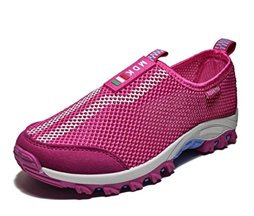 WZG Outdoor chaussures d'escalade filet creux chaussures chaussures à séchage rapide respirable mesh sport red (female)