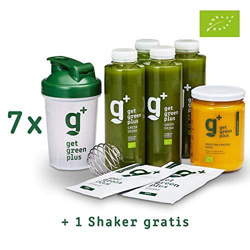 get green plus - Cleanse Kur (7 Tage) | 100% BIO | Mehr als Juicing: Drink + Soup + Proteine | Kick-Off für eine gesunde Ernährung | Ohne Hungergefühl gesund abnehmen (Sieben-tage-cleanse)