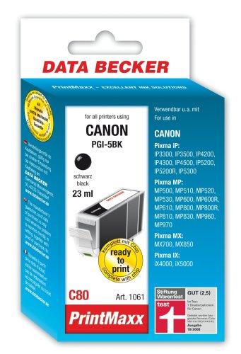 C80-serie (Data Becker 311061 C80 Tintenpatrone mit Chip für Canon Series schwarz)