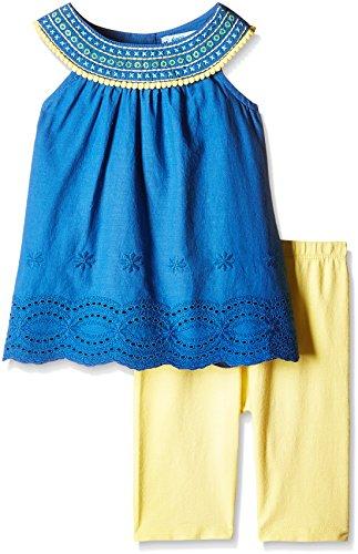Nauti Nati Baby Girls' Clothing Set (NSS16-328_Blue and Yellow_18 - 24 Months)