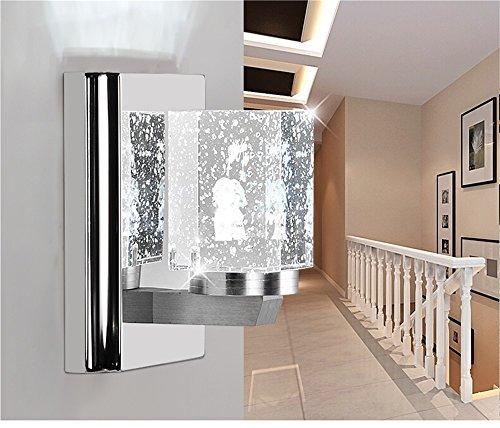 TOYM-LED Moderne minimaliste mur de cristal Applique en acier inoxydable